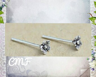 Flower Earrings 925 Sterling Silver Earrings Cherry Blossom Earrings Stud Earrings
