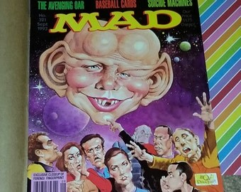 Vintage 1993 Mad Magazine with Deep Space 9 Cover