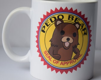 Pedobear Seal of Approval mug