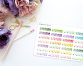 Medication Weekly Habit Stickers -- Matte Planner Stickers