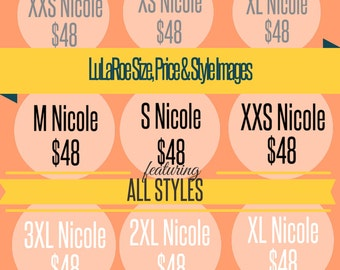LuLaRoe Photo Size, Style & Price Overlays for ALL ADULT STYLES