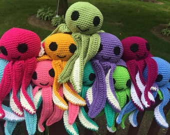 Stuffed Animal Octopus - Hand Crocheted Stuffed Octopus Toy
