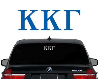 KKG Kappa Kappa Gamma Greek Letters Sorority Decal Laptop Sticker Car Decal
