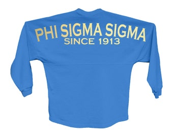 PhiSig Phi Sigma Sigma Since Jersey Choose Your Colors Sorority Oversized Jersey