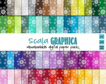 Snowflakes Digital Paper Basic 26 [Instant Download]