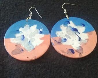Handmade wood earrings