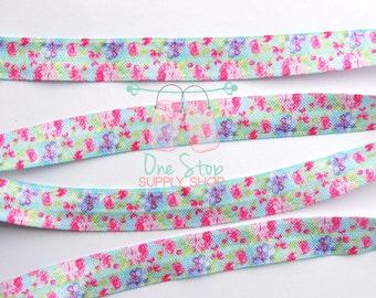 Floral elastic - Floral foe - Foe - Flower elastic - Flower foe - Elastic - Colorful foe - Colorful elastic - Flower headband - Flower