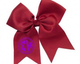 Sigma Kappa Monogram Hair Bows