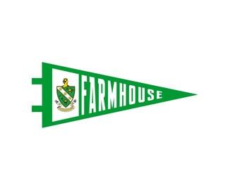 FARMHOUSE Pennant Decal