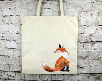 Sitting Fox Tote Bag