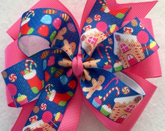 Gingerbread - Christmas Boutique Hair Bow