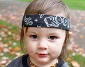 Boy Headband / Bandana Style Headband / Rocker Headband / Child Tie-on Headband / Gifts for Boys / Boy Band Man Band / Edgy Boy Accessory
