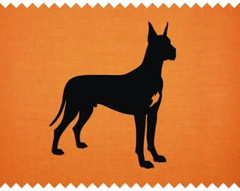 Great Dane Silhouette - svg - ai - dxf - cdr - pat - jpeg - png - pdf - wmf - docx - Printable Clipart - Iron on Transfer -  Laser Engraving