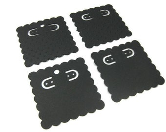 Hand Punched Earring Cards Set of 24 Choose Your Embossing
