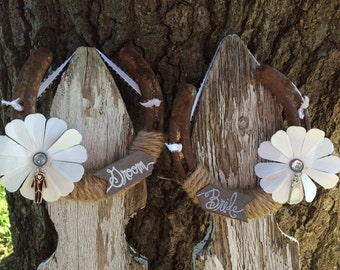 Lucky Wedding Horseshoes for the Bride and Groom-Decoration-Gifts-Cowgirl-Equestrain-Rustic-Country