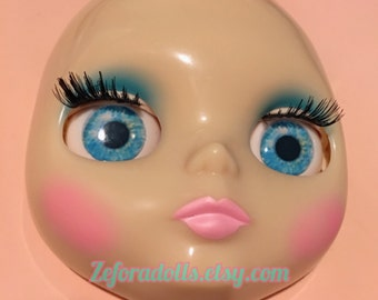 Realistic Vivid Blue Soft Resin Eye Chips For Blythe (14 mm)