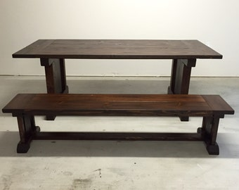 Spanish Mission Colonial Farmhouse Table