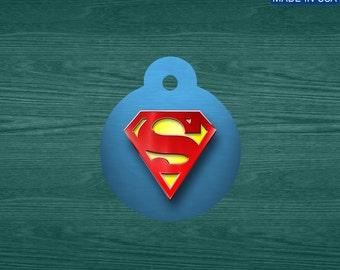 Superman aluminum pet tag
