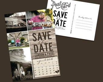Rustic Chic Save the Date Postcards {deposit}