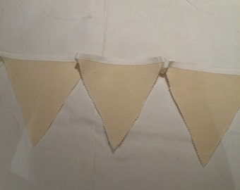 40ft/13m Cream Wedding Bunting