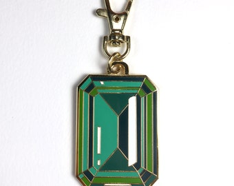 EMERALD Bag Clip // Purse Charm
