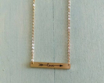 Love Necklace Hand Stamped