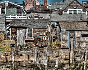 Shacks Along the Pier, Cape Anne, MA