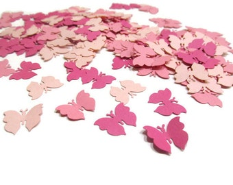 Paper Butterfly Confetti in Pink, Mini Butterfly Die Cuts, Baby Girl Shower Table Scatter, Tropical Party Theme, Botanical Party, Weddings