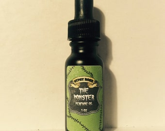 Monster Limited Edition Halloween Perfume Oil Sandalwood Rose Tobacco Leather - Gypsy Rose Cosmetics