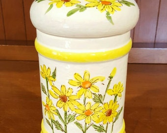 Sears Roebuck & Co Yellow Daisy Canister 1976