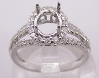 White gold diamond ring, diamond unique engagement ring, rose gold wedding ring, 18k rose gold ring LW09