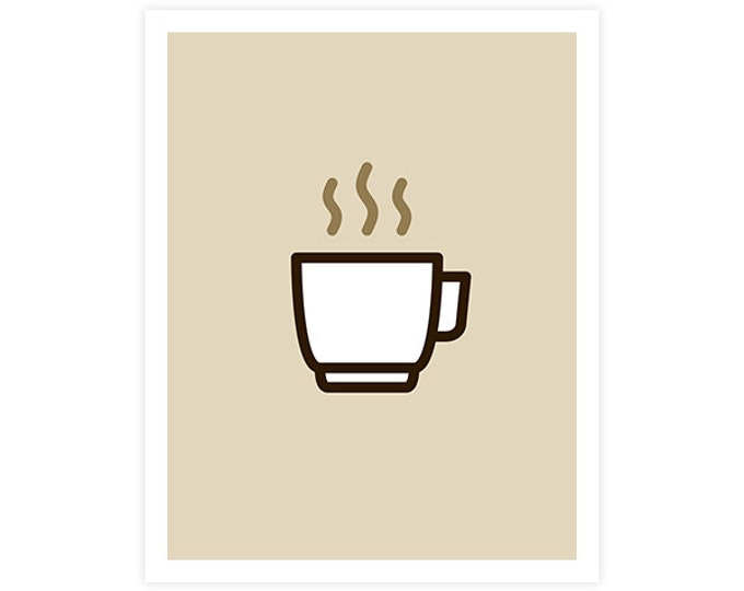 Coffee Art Print - Icon Prints: Drinks Series