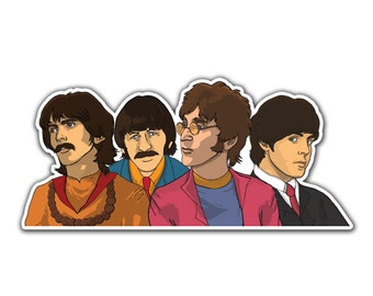 Beatles Sticker - Fab Four