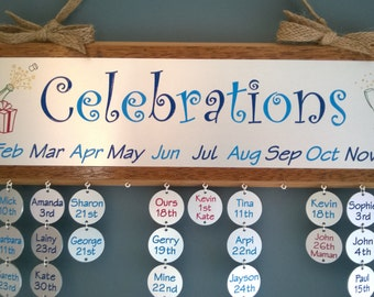 Celebrations reminder plaque. Engraved plaque for important dates, anniversaries and celebrations