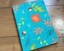 Large Notebook Covered in Home for Harvest Fabric