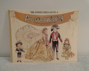 1976 The Antique Dolls Go To A Paper Doll Wedding By Peggy Jo Rosamund Uncut