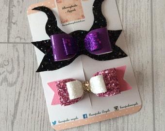 Disney hair bows - hair bows for girls - hair clips for girls - hair bows