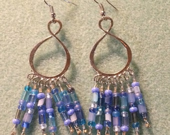 Infinity rainfall earrings