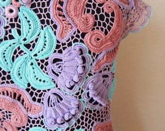Irish Crochet Motif Pattern,detailed tutorial,crochet decor,crochet applique,irish crochet motifs set,crochet embelishment,crochet brooch