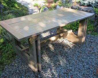 Western Red Cedar Table