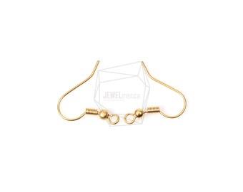 ERG-173-MG/10Pcs-Simple Line Hook Ear Wires-French Hook Earrings-Fishhook-Earring Findings