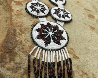 Necklace Beaded Native American Hand Made