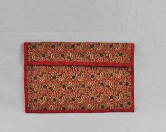 Red Paisley Laptop Case