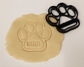 Custom Dog Paw Cookie Cutter