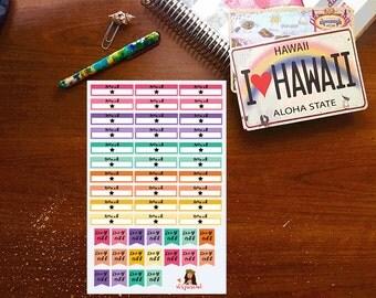 Work/Day off Planner Stickers
