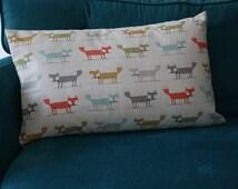 Scandinavian foxes beige cushion child bed - baby