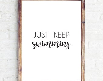 """Shop """"just keep swimming"""" in Art & Collectibles"""