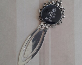 Keep calm and read cute bookmark