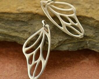 Sterling Silver, Butterfly Wings, Butterfly Charm, Butterfly Wing Pendant, Butterfly Wing Necklace, Silver Butterfly Necklace