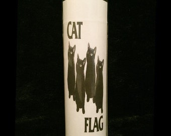 """Cat Flag 2x8"""" Horror Candle from Toxxic Candles"""